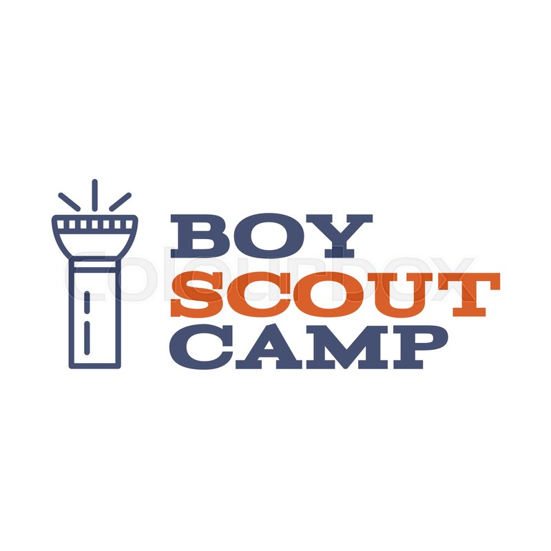 Boy Scout Camp Logo Design With Typography And Travel Element