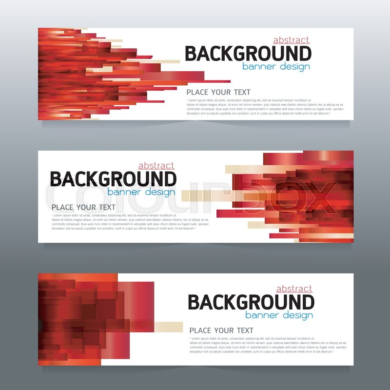 vector background banner collection