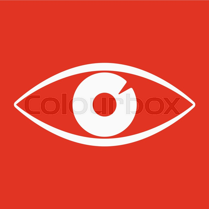 The Eye Icon Eye Symbol Flat Vector Illustration Stock Vector