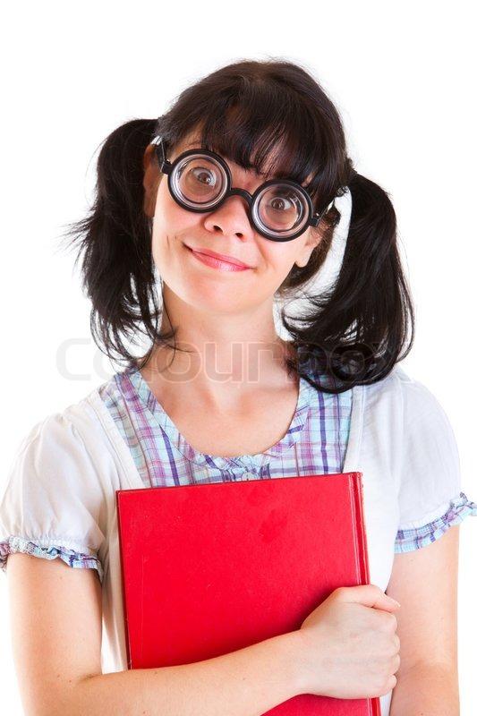 Ugly nerd girl