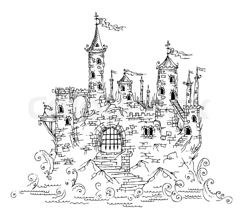 Gothic Castle from Fairytale IV. Vector illustration EPS-8, vector