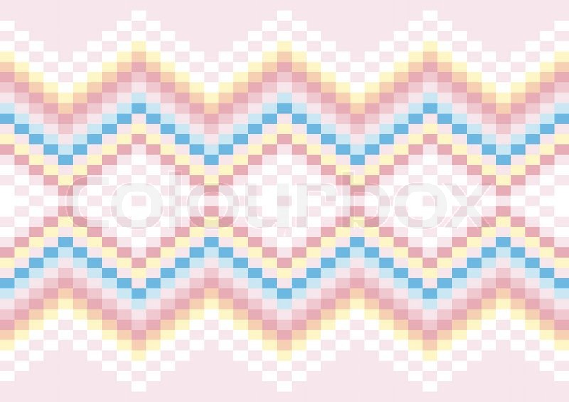 Bright Geometric Patterns In Pastel Colors Stock Vector