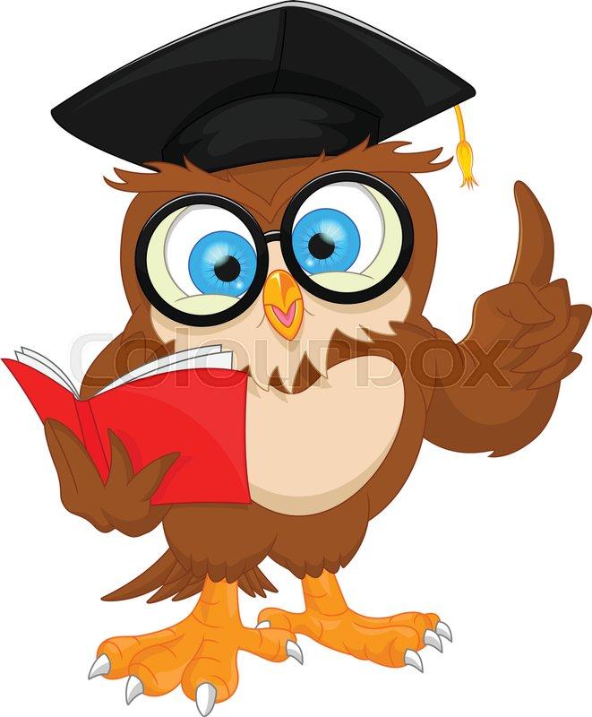 Vector illustration of owl wearing ... | Stock vector ...