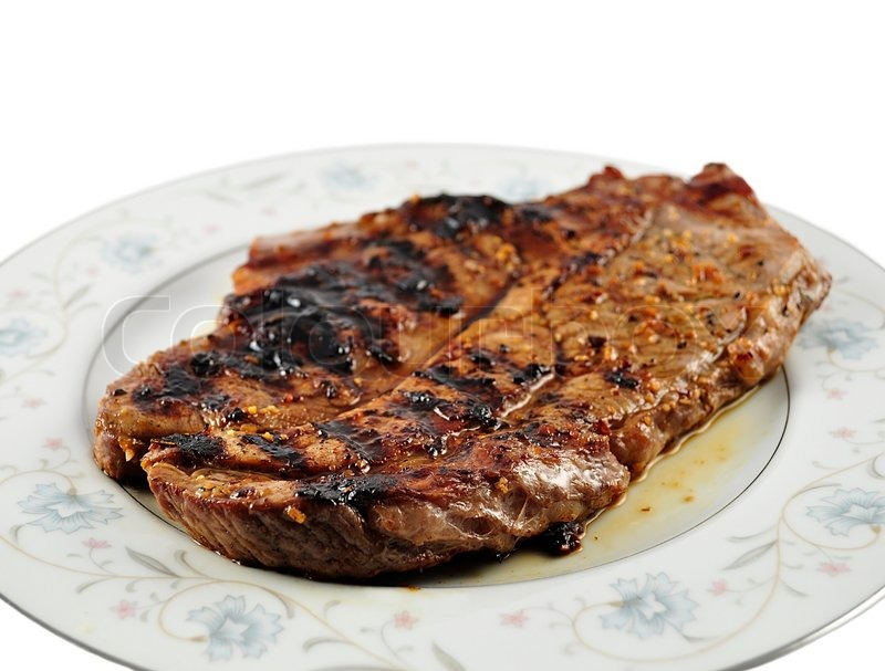 fresh grilled steak on...