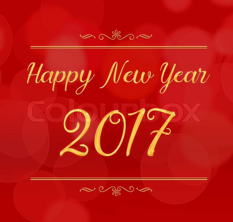 Happy new year 2017 with decoration on ... | Stock Photo ...