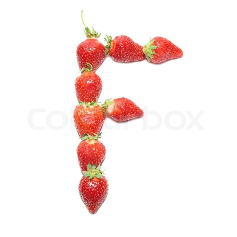strawberry letter 22 strawberry health alphabet letter quot f quot with white 30027