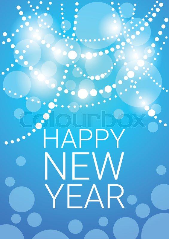 happy new year decoration celebration banner flat vector illustration vector