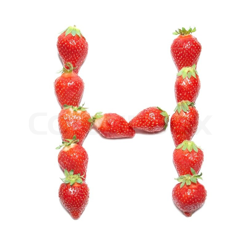 strawberry letter 22 strawberry health alphabet letter quot h quot with white 24985 | 2218621 strawberry health alphabet letter h with white isolation