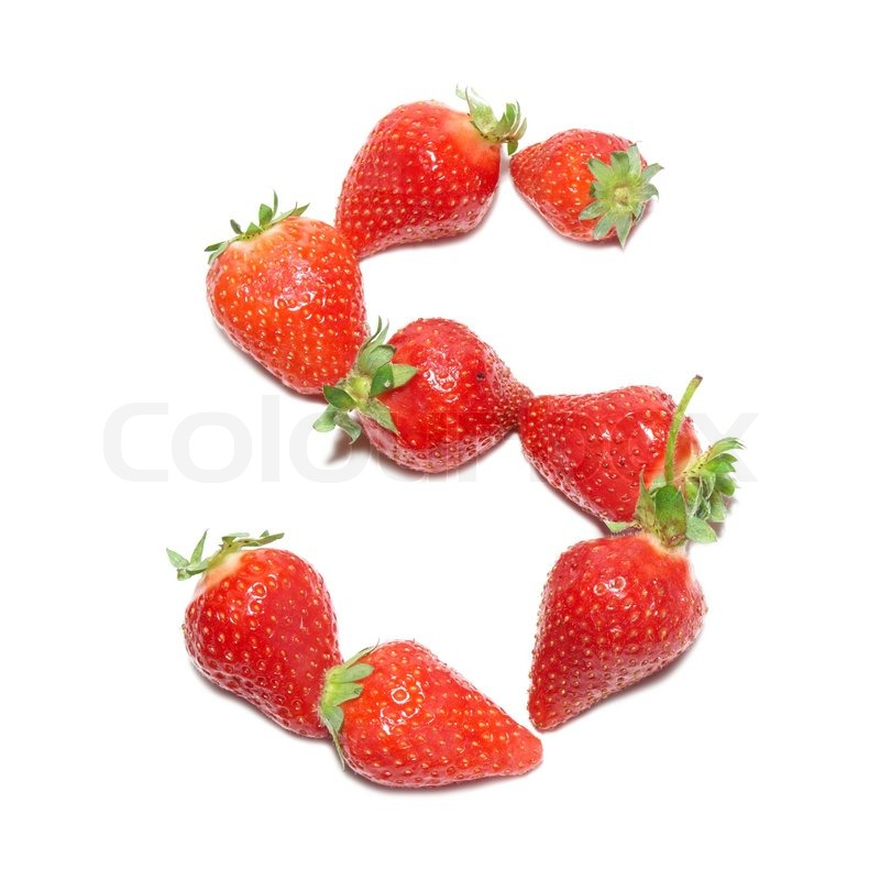 strawberry letter 22 strawberry health alphabet letter quot s quot with white 24985 | 800px COLOURBOX2218652