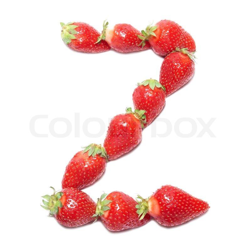 Strawberry health alphabet letter