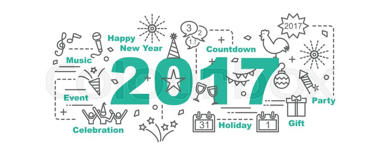 Happy New Year Flat Design 58