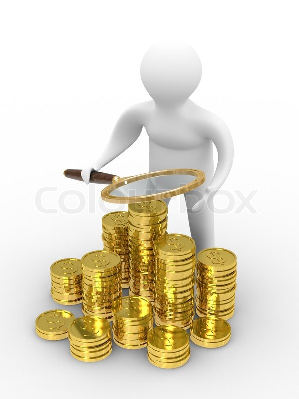 increase finance on white background isolated 3d image