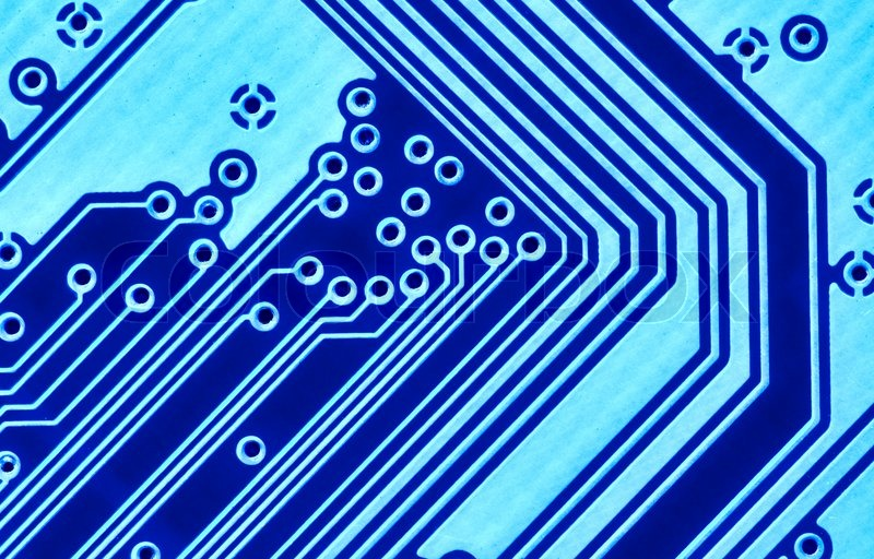 blue circuit board macro may be used as background stock photo colourbox