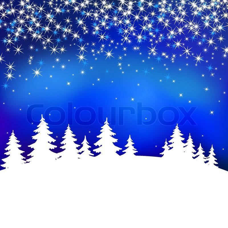 Schnee Weihnachten Vektor Landschaft   Vektorgrafik   Colourbox