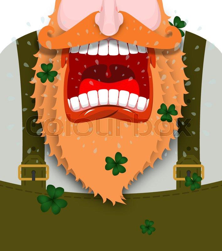 Leprechaun screams. Scary Gnome red beard shouts. Angry dwarf shout ...