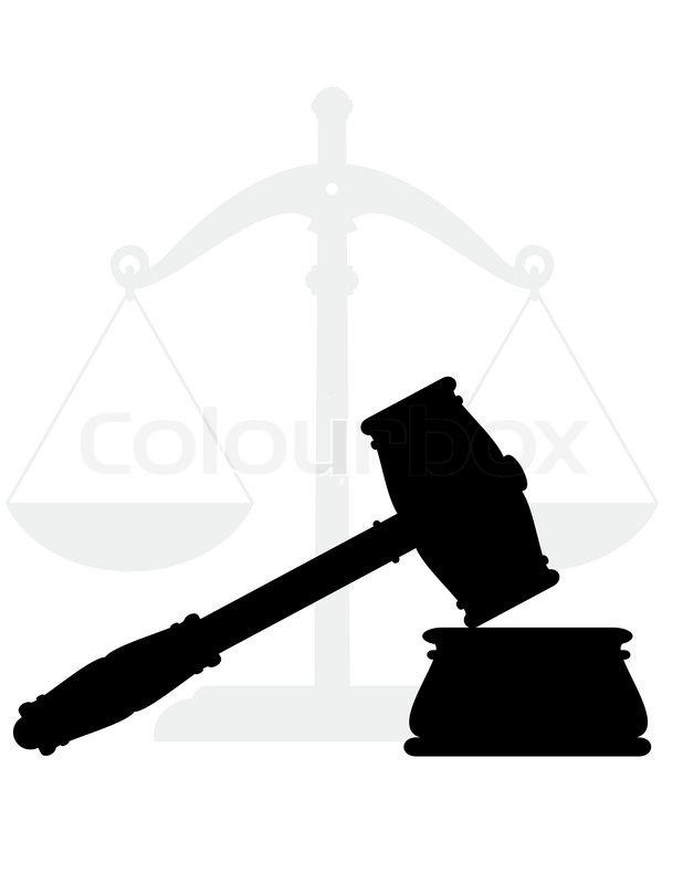 Gavel Hammer Anvil And Scales Symbols Of Justice And Low