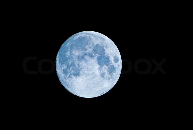 Blue moon, stock photo