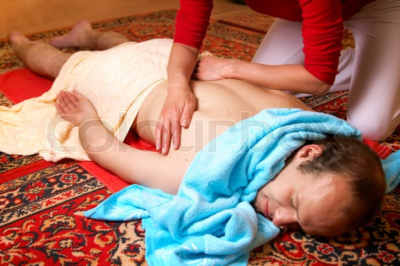 Stock image of 'Thai massage is a type of massage in Thai style that involves stretching and deep massage.'