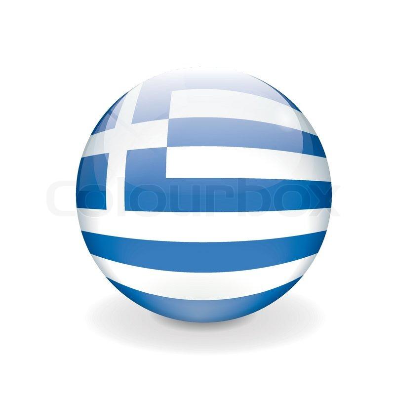 Round vector Flagge von Griechenland  Vektorgrafik  Colourbox