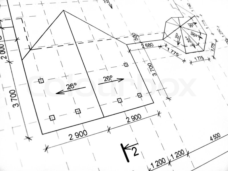 Construction Drawings Fragment Black