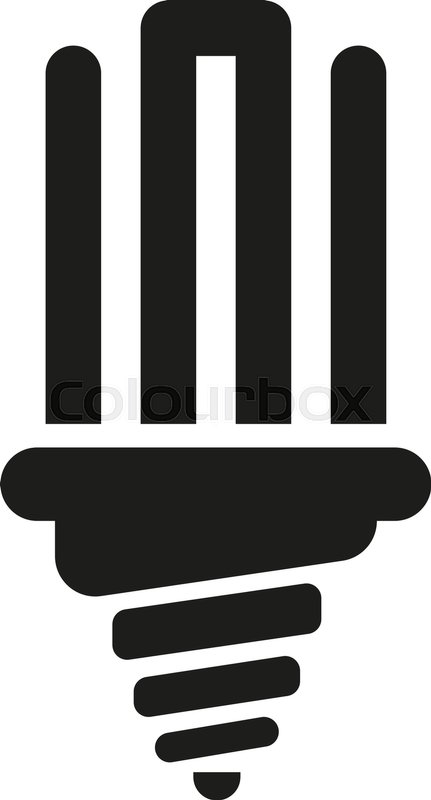 The Fluorescent Light Bulb Icon Lamp And Bulb Lightbulb Symbolui