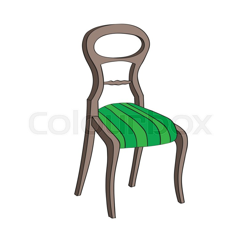Illustration After A Hand Drawn Sketch Representing A Biedermeier Chair |  Stock Vector | Colourbox