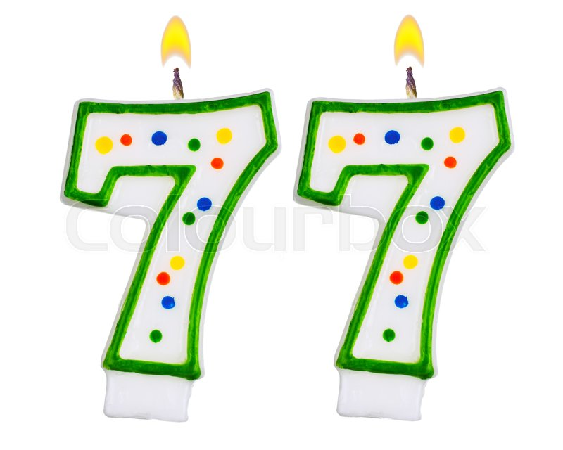 Birthday Candles Number Seventy Seven