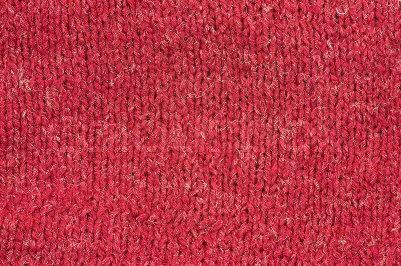Knitting Background Texture : Red wool knitting texture close up stock photo colourbox