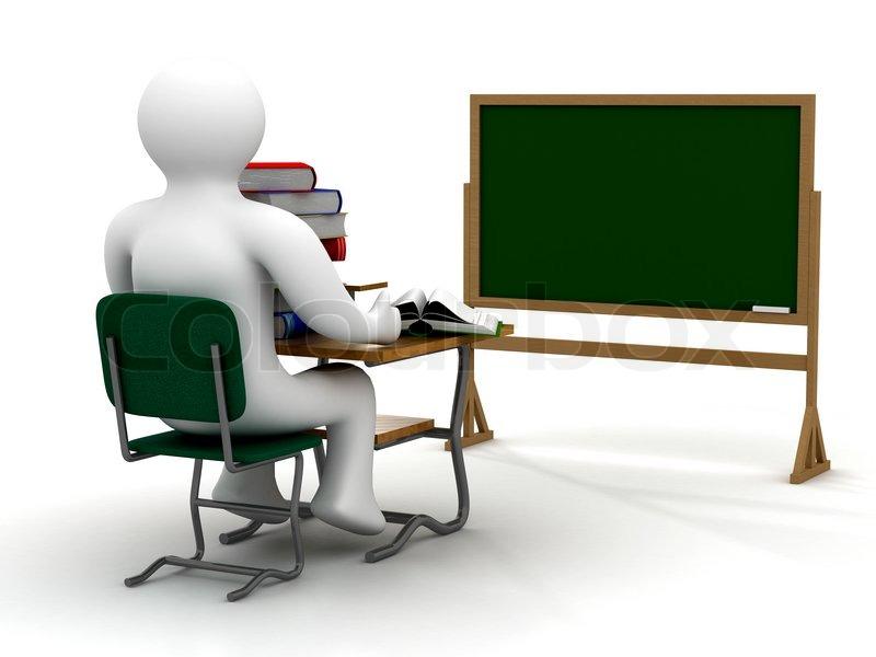 Sch ler auf der schulbank stockfoto colourbox for Stuhl design unterricht