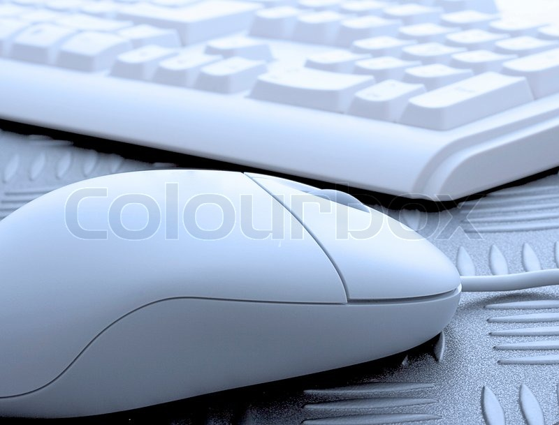 Closeup Of Computer Keyboard And Mouse, stock photo