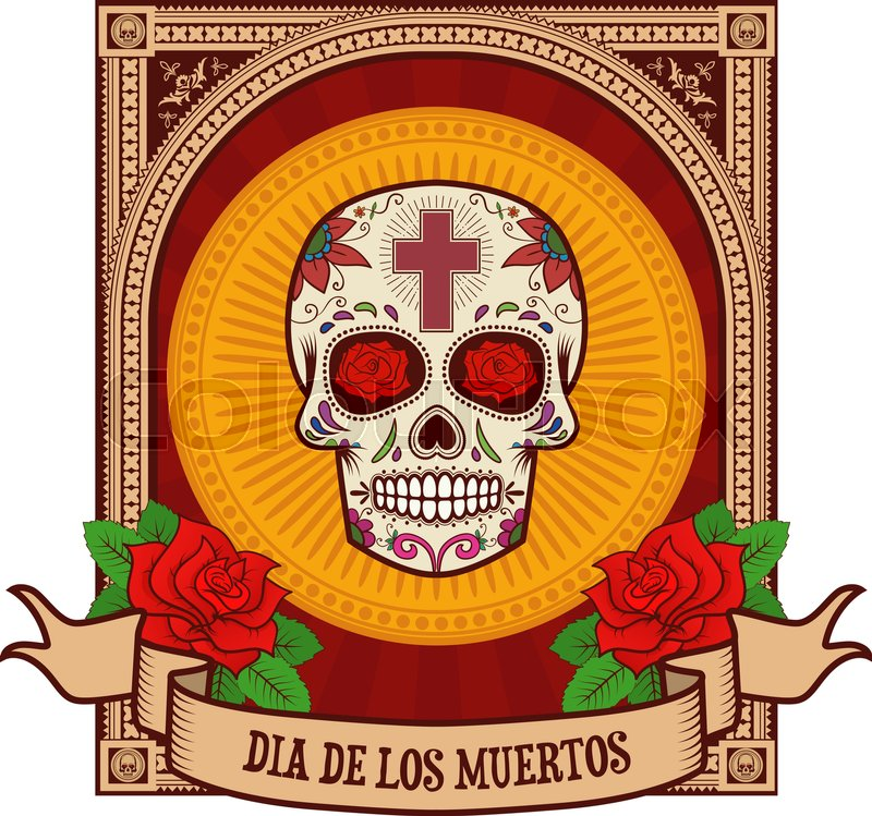 Day Of The Dead Sugar Skull In Stock Vector Colourbox