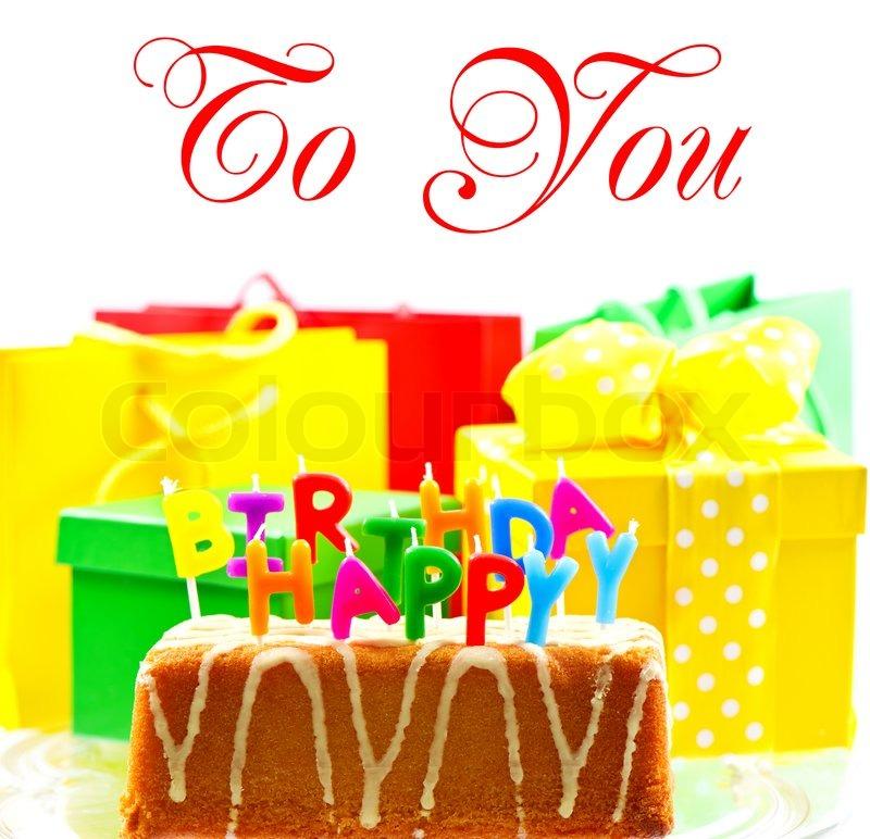 Amazing Happy Birthday To You Birthday Cake Stock Image Colourbox Personalised Birthday Cards Cominlily Jamesorg