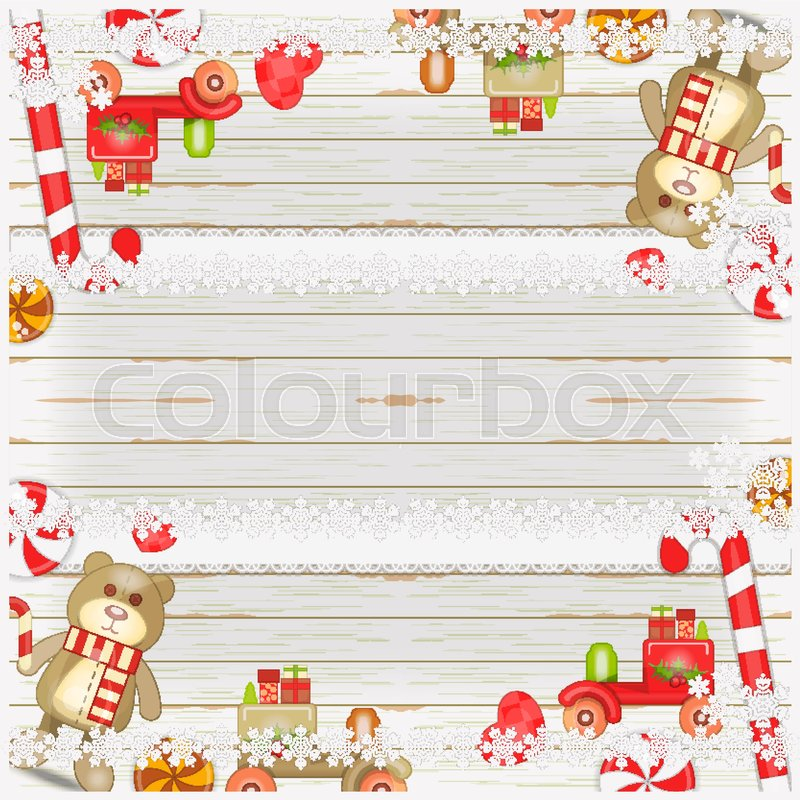 Merry Christmas And New Year Card Holiday Frame Christmas Toys