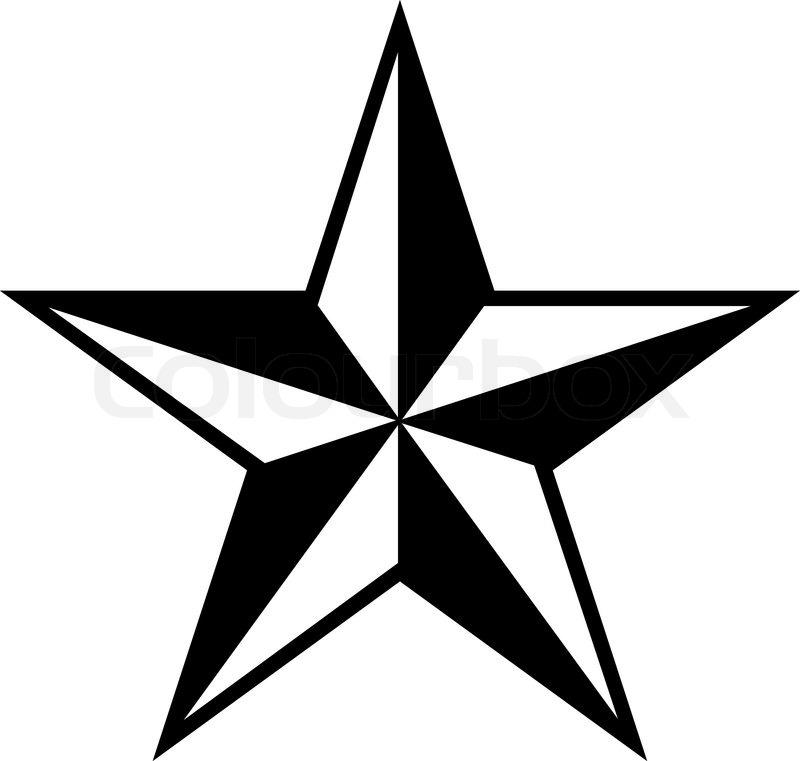 pentagonal star simple vector stock vector colourbox rh colourbox com star vector image star vector logo