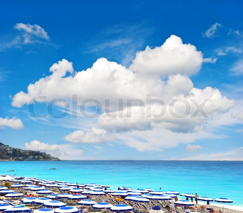 View Of Beach Resort, Nice, France Holiday Background With