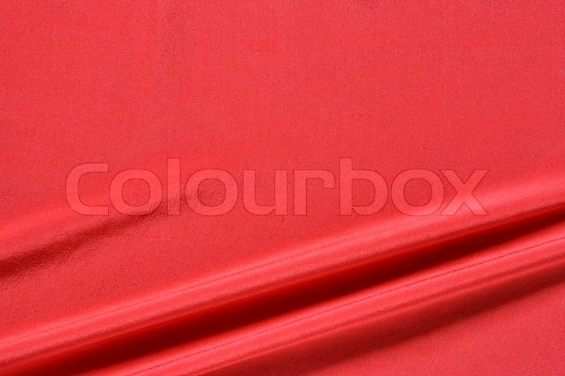 Red fabric background with space for text on top stock for Red space fabric