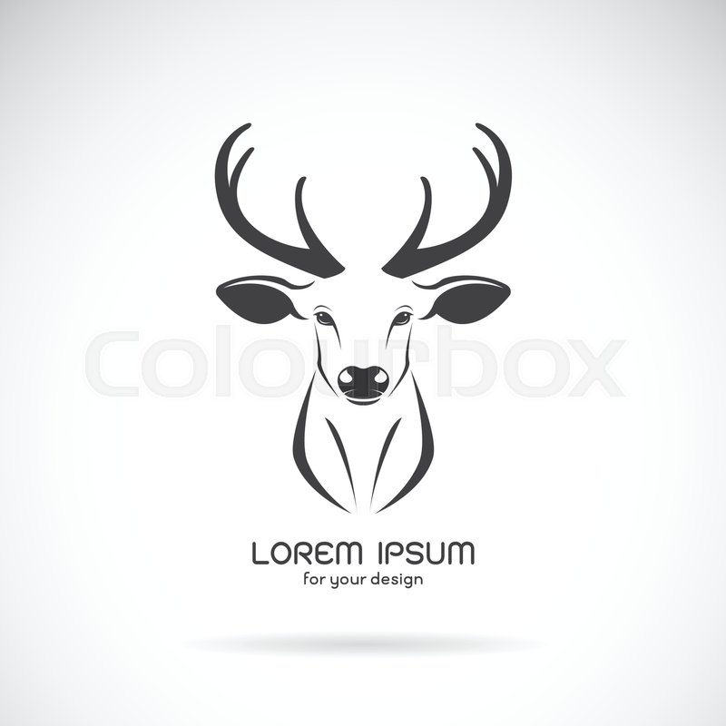 Deer Head Clipart Black And White Vector image of a deer...