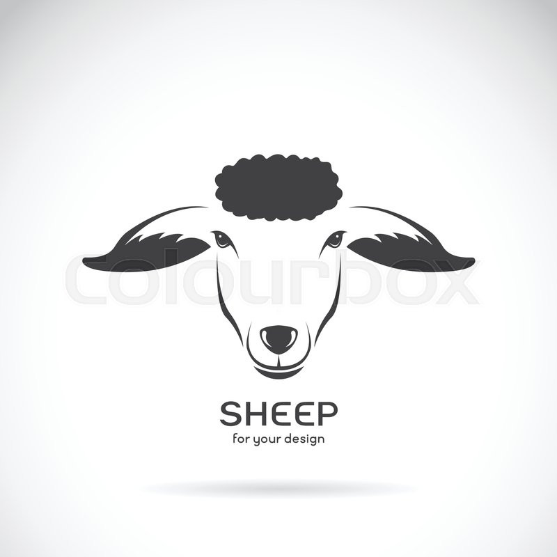 Vector Image Of A Sheep Head Design On White Background Logo Farm Animals