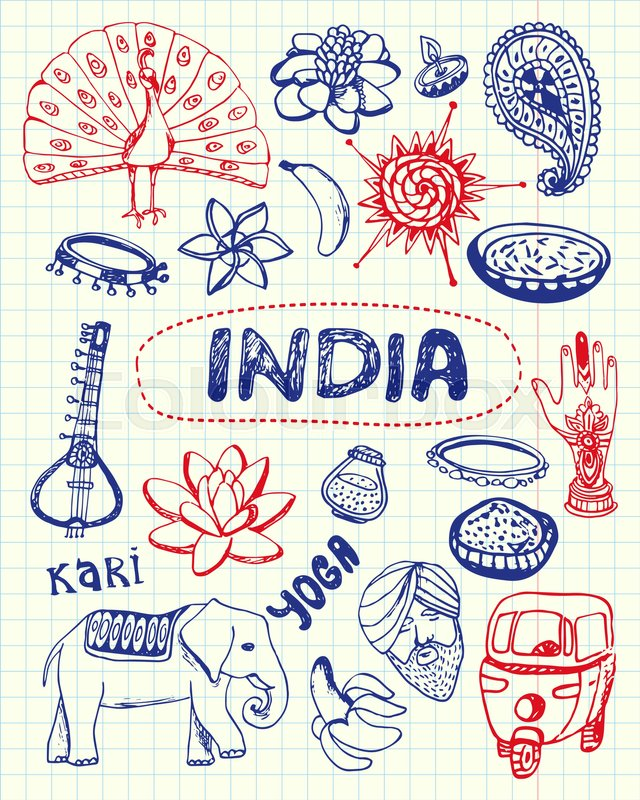 India Associated Symbols Indian National Cultural Architectural