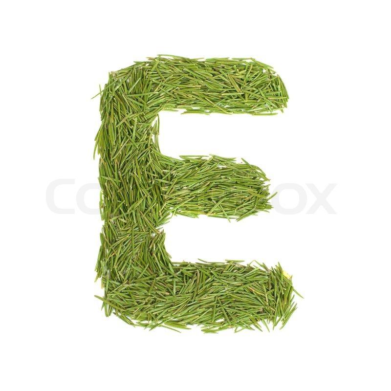 Green alphabet letter e isolated on white stock photo colourbox altavistaventures Images