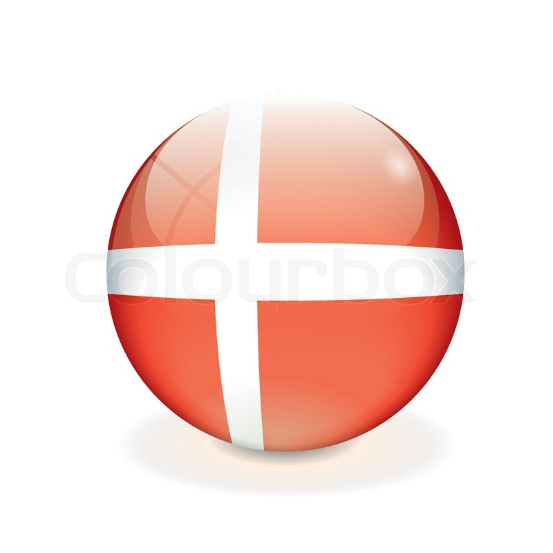 Stock vector of 'Round Danish vector flag'