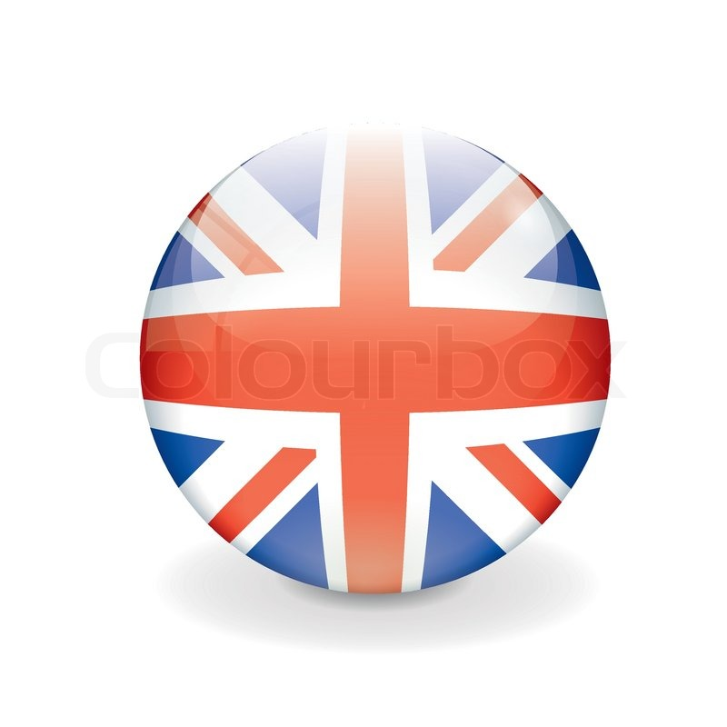 Stock vector of 'Round British vector flag'