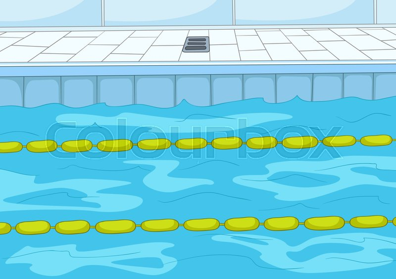 Swimming Pool Lane Lines Background hand drawn cartoon of sport infrastructure. cartoon background of