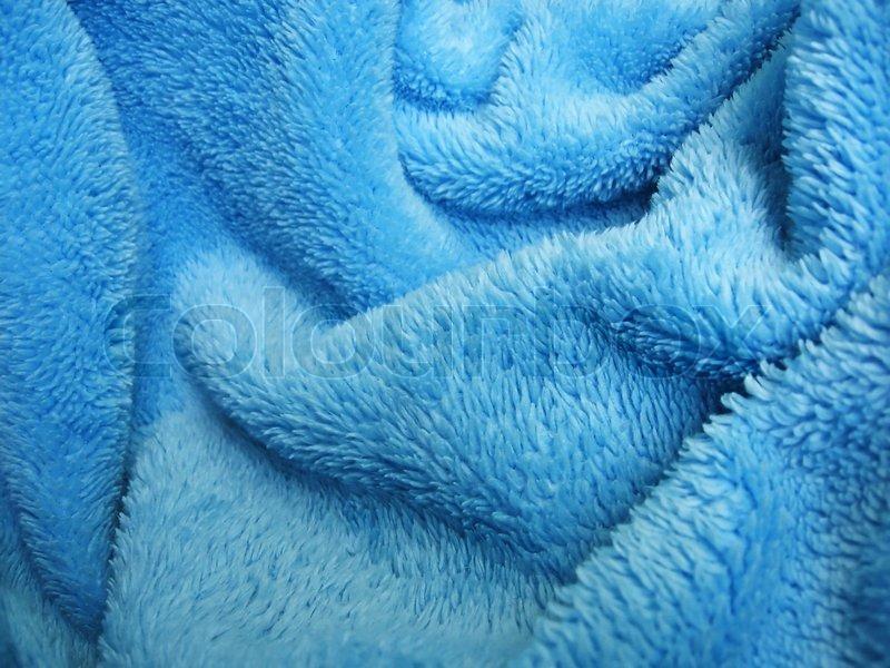 Blue Towel Terry Cloth Soft Texture Cloth Stock Photo