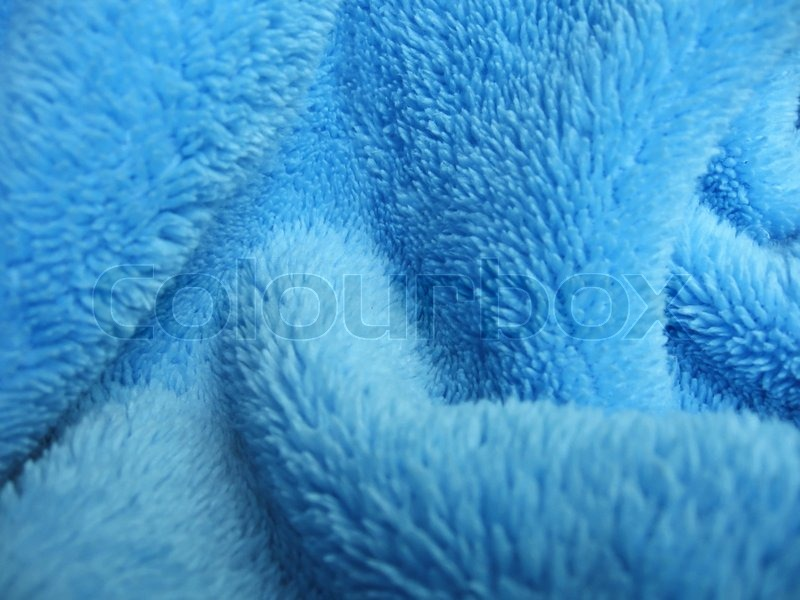 Blue towel terry cloth, Soft texture cloth stock photo