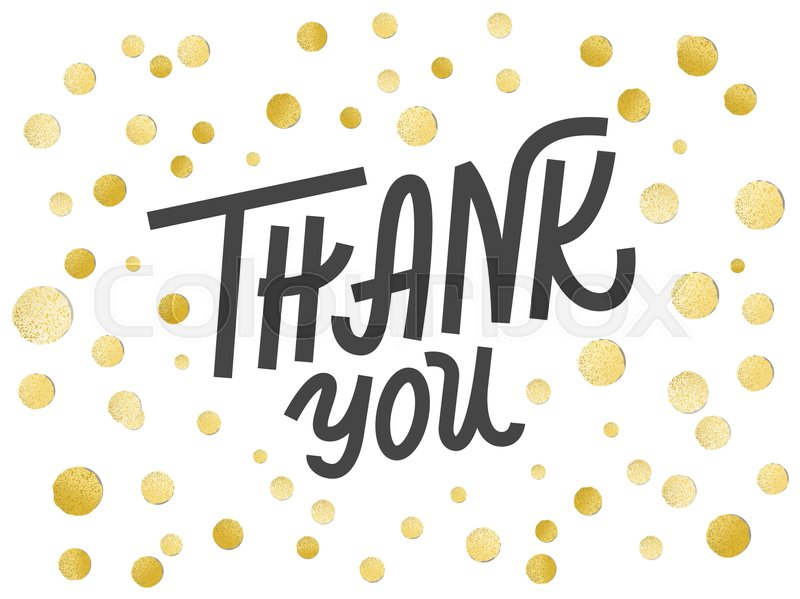 gold leaf boho chic style thank you greeting card with shiny golden