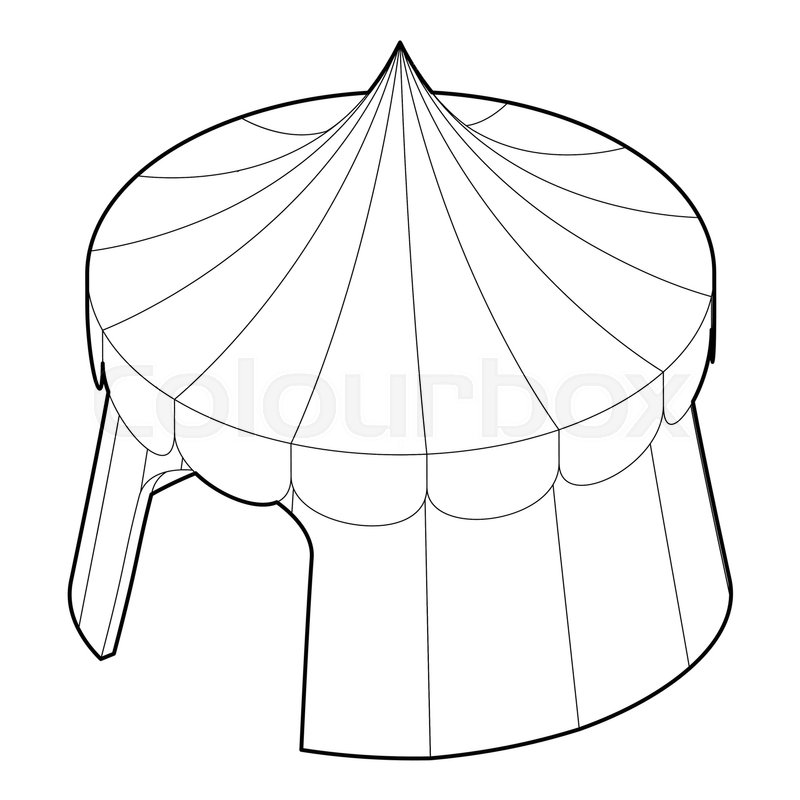 Circus tent icon. Outline illustration of circus tent vector icon for web vector  sc 1 st  Colourbox & Circus tent icon. Outline illustration of circus tent vector icon ...