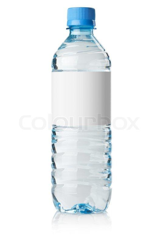 Soda wasserflasche mit leeres etikett stockfoto colourbox for Mineral water label template