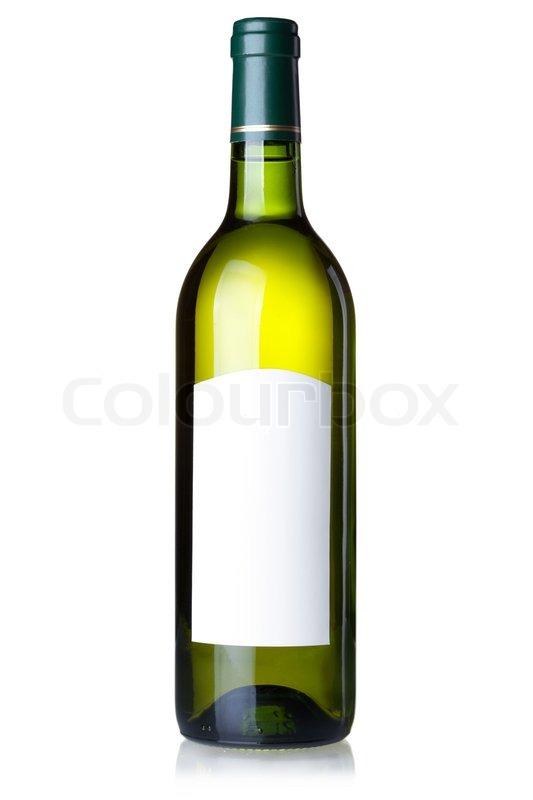 Blank White Wine Bottle White wine in green bottle