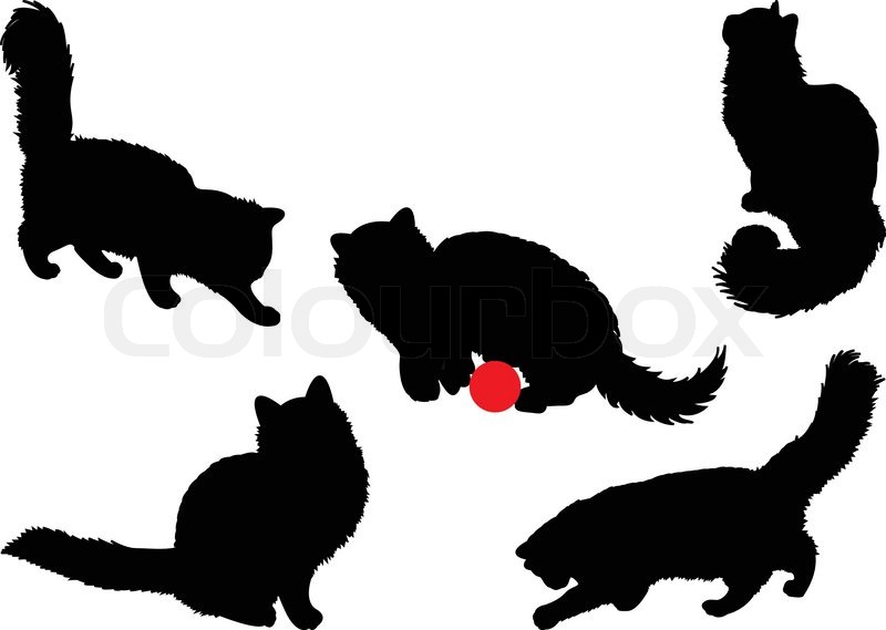 cat silhouettes stock vector colourbox. Black Bedroom Furniture Sets. Home Design Ideas